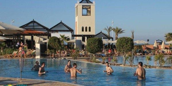 Fiestas en la piscina del Saidia Festival samba